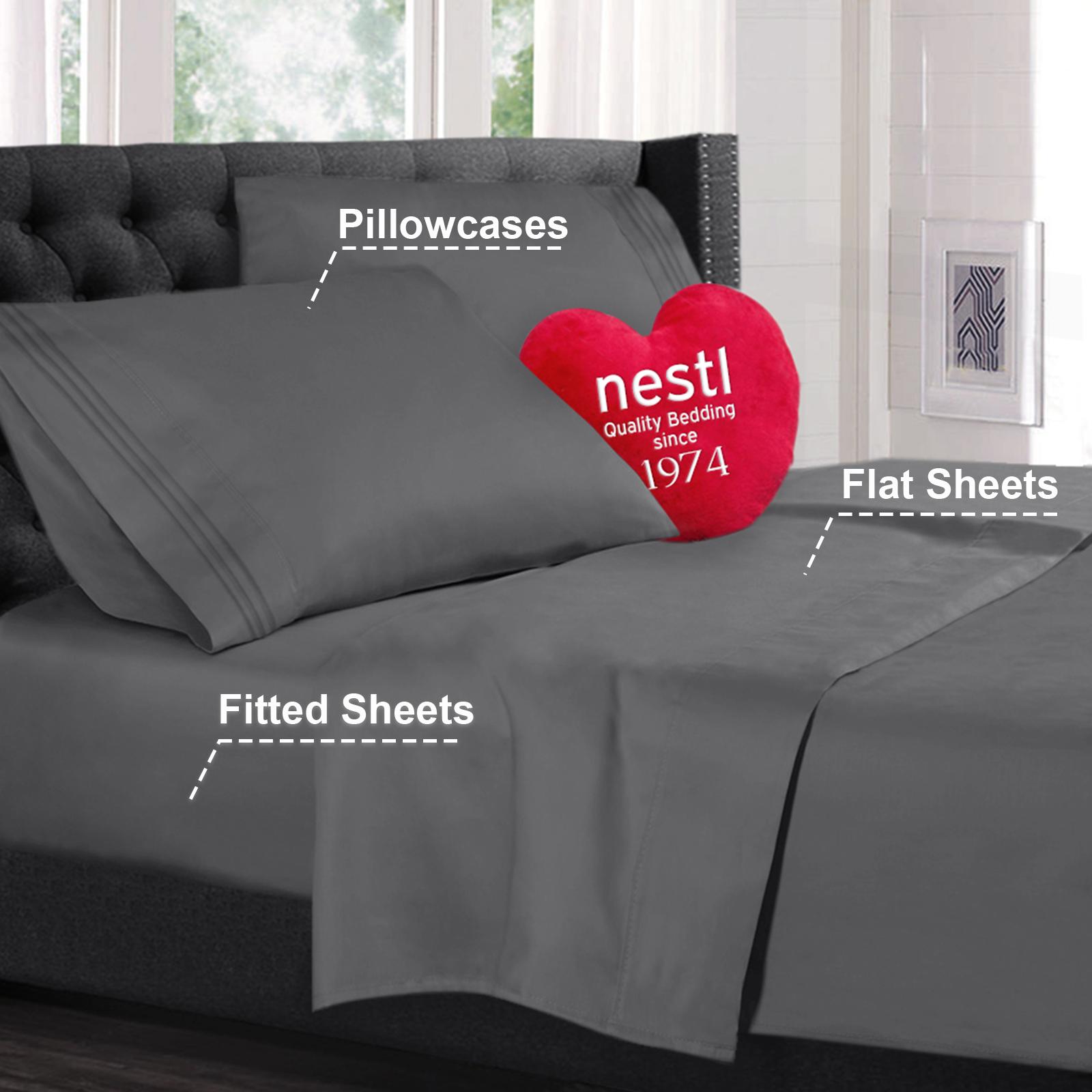Details About Double Brushed Soft Microfiber Hotel Style Bed Sheets Deep Pocket Sheet Set