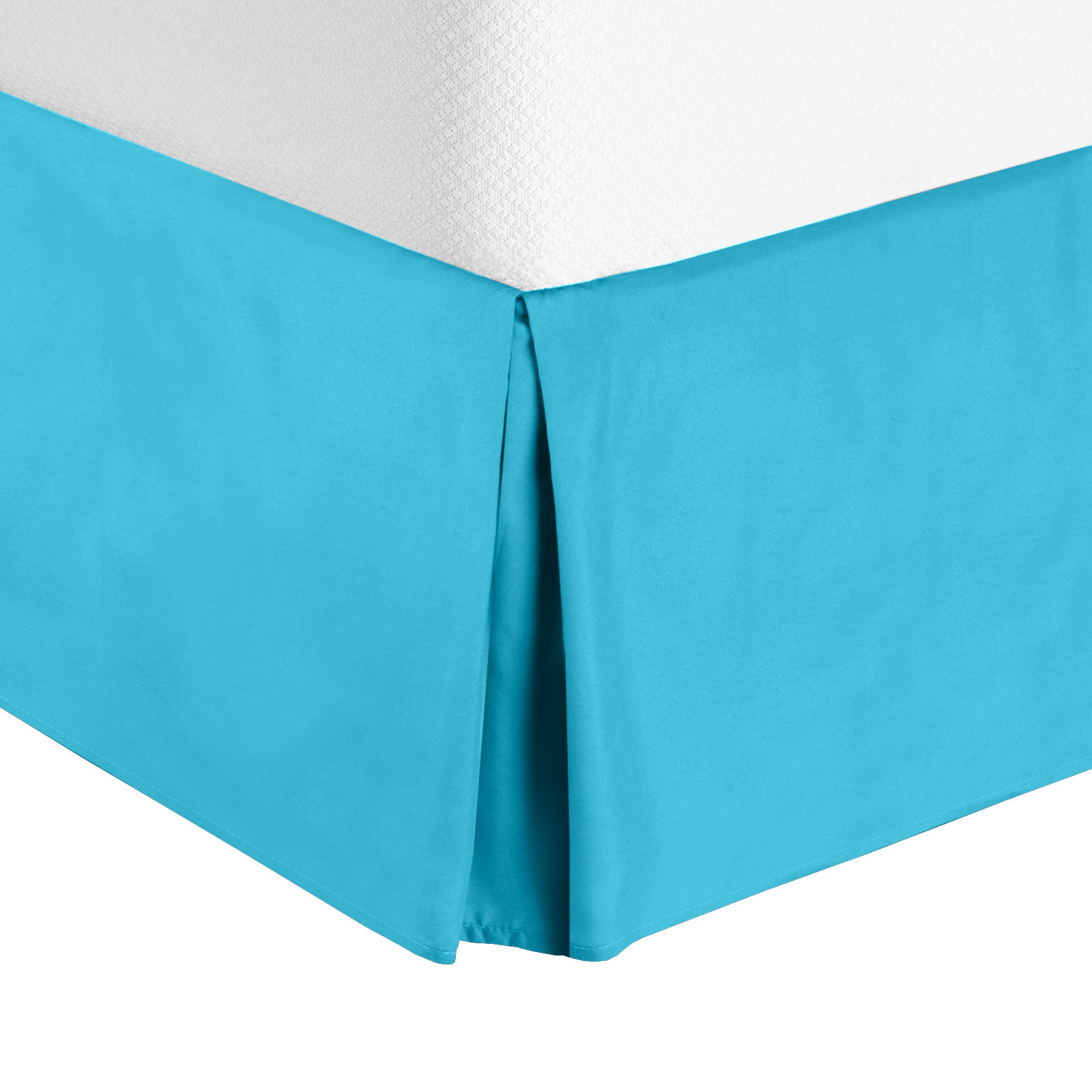 """14"""" Tailored Drop Pleated Egyptian Solid Bedskirt-Microfiber Dust Ruffle"""