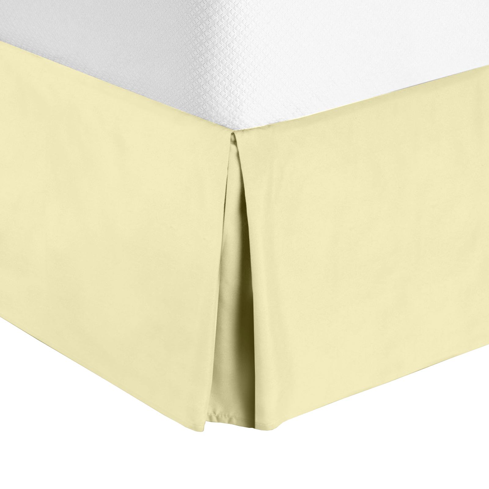 King Size Solid Ivory The Great American Store Premium Quality Pleated Bed Skirt//Dust Ruffle 10 Inch Tailored Drop 1800 Series Brushed Microfiber Bedskirt