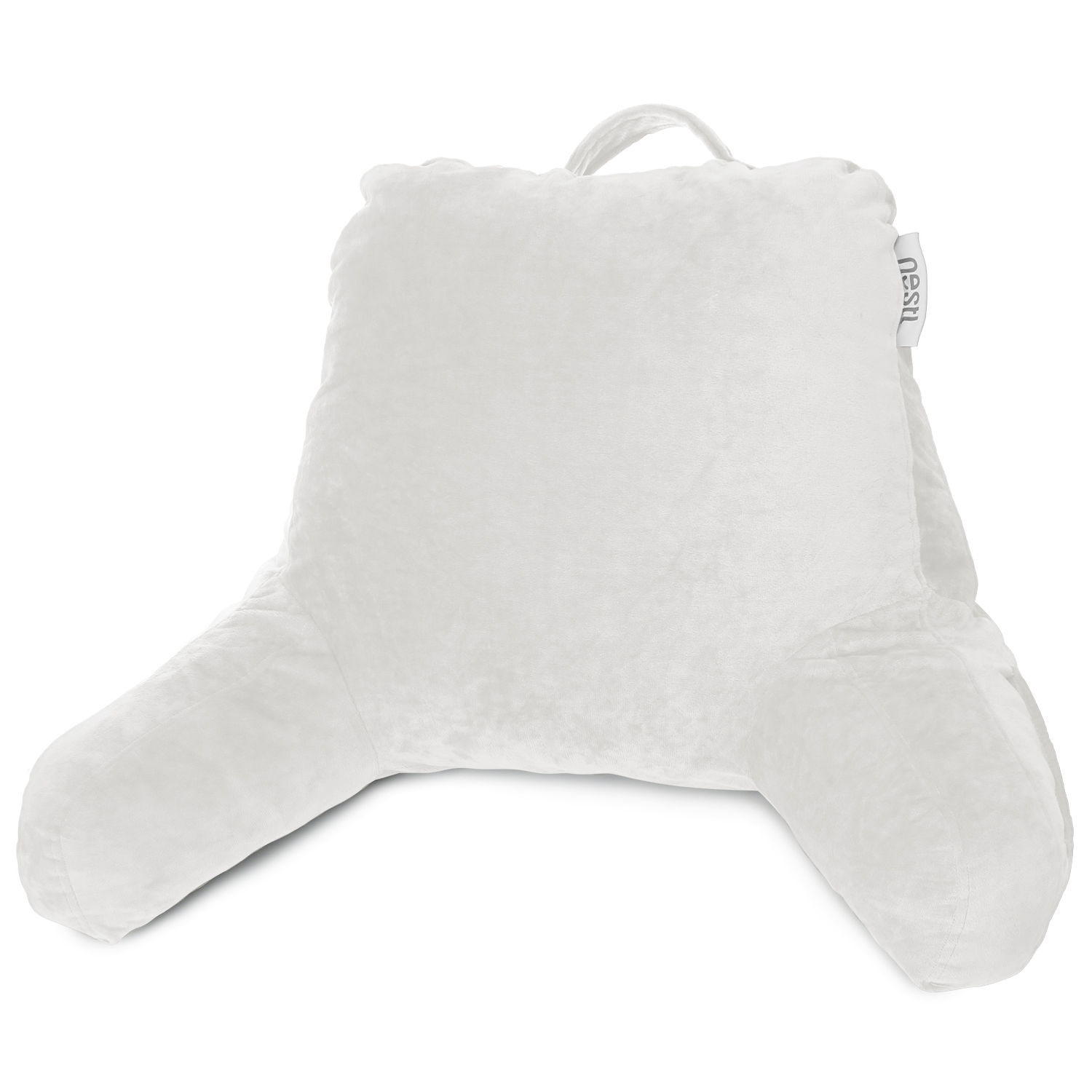 Picture of: Super Foam Reading Pillow Tv Bed Rest Pillow Arms Support With Pockets White 541146155709 Ebay