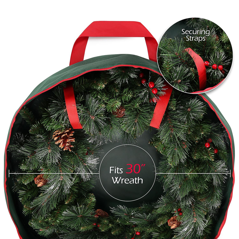 Christmas Wreath Storage Bag For 30 Inch Wreaths Heavy ...